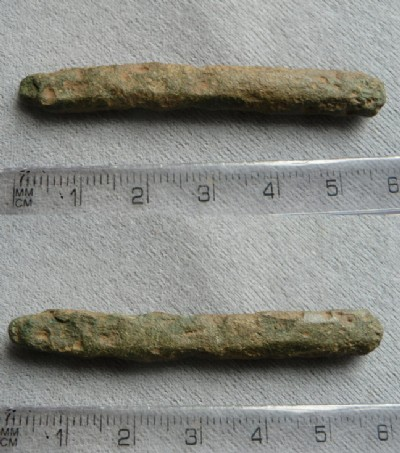 Small copper alloy ingot