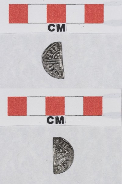 Half of a silver coin Henry III