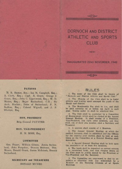 Dornoch and District Athletic and Sports Club